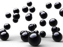 Salte esferas pretas Foto de Stock