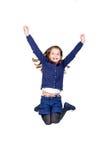 Salte a la muchacha Imagen de archivo libre de regalías