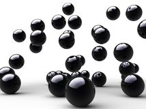 Salte las bolas negras Foto de archivo