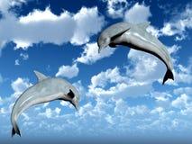 Salte los delfínes stock de ilustración