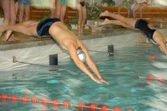 Salte na água Fotografia de Stock Royalty Free