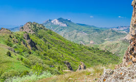 Salte na reserva de natureza de Karadag, Crimeia, Ucrânia. Imagem de Stock