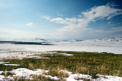 Salte nas montanhas dos Ural do sul Imagem de Stock