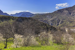 Salte nas montanhas perto da vila de Lahij Azerbaijão Fotografia de Stock