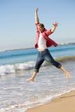 Salte para a alegria Fotografia de Stock