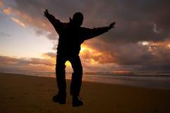 Salte para a alegria Foto de Stock