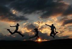 Salte para la alegría Foto de archivo libre de regalías
