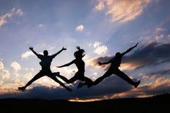 Salte para la alegría Fotografía de archivo libre de regalías