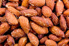 Salted Almonds. Provide a nutritious and healthy snack Stock Photo