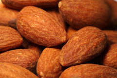 Salted Almonds closeup background Stock Photography