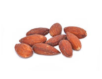Salted Almonds with white background Stock Photos