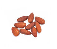 Salted Almonds with white background Stock Photo