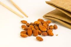 Salted almonds Stock Photos
