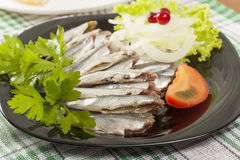 Salted anchovy without head Royalty Free Stock Photos