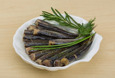 Salted anchovy Stock Images
