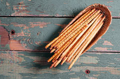 Salted bread sticks Stock Photography