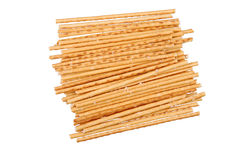 Salted breadsticks isolated on white Royalty Free Stock Photo