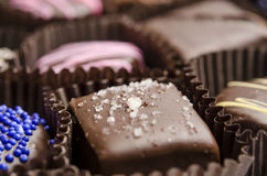 Salted Caramel Chocolate Truffle Stock Images