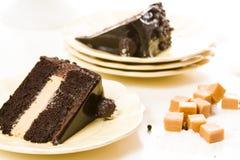 Salted Caramel Truffle Torte Stock Images