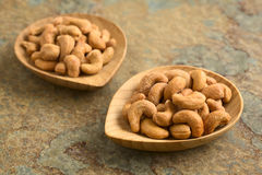 Salted Cashew Nuts Royalty Free Stock Images
