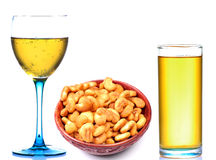 Salted Cashewnuts And Fizzy Drinks Royalty Free Stock Image