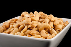 Salted Cashews in a Bowl stock photography