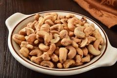 Salted cashews Royalty Free Stock Photos