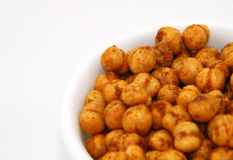 Salted chickpeas snacks Stock Images