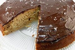 Salted Chocolate Ganache Cake Stock Images