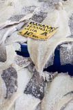 Salted Cod fish Bacalao on the market, Greece. Stock Photography