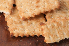 Salted cracker with sesame Royalty Free Stock Images