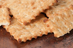 Salted cracker with sesame Royalty Free Stock Image