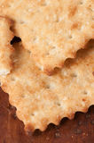 Salted cracker with sesame Royalty Free Stock Photos