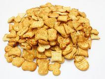 Salted crackers Royalty Free Stock Images