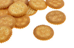 Salted Crackers Royalty Free Stock Photos