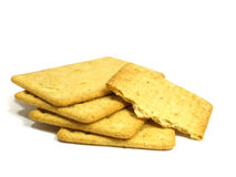 Salted crackers Stock Image