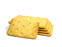 Salted crackers Royalty Free Stock Image