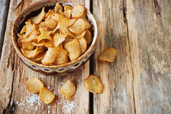 Salted crackers Royalty Free Stock Photography