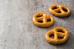 Salted crunchy pretzels Royalty Free Stock Images