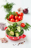 Salted cucumbers Stock Image