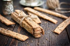 Salted diet crackers Stock Images