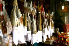 Salted dried fish Stock Image