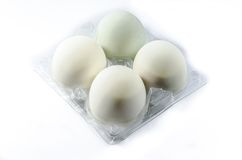 Salted Duck Egg on white background Stock Photography