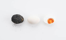 Salted duck egg. On white background royalty free stock images