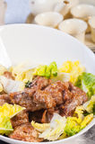 Salted egg yolk chicken Royalty Free Stock Images