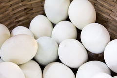 Salted eggs in a basket Royalty Free Stock Photos