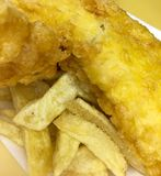 Salted Fish and Chips Royalty Free Stock Photography