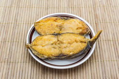 Salted fish fried (King mackerel) Stock Images