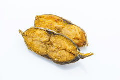 Salted fish fried (King mackerel) Royalty Free Stock Image