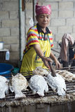 Salted fish on the grill, Thailand Royalty Free Stock Images